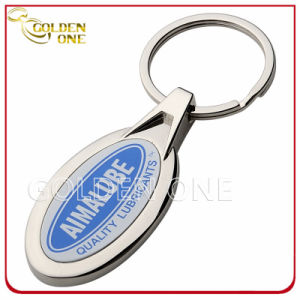 Hot Sale Custom Printed Oval Metal Keyring pictures & photos