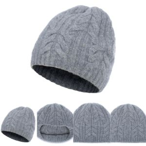 Lady′s Knitted Hat with Cables A16wa6-001 pictures & photos