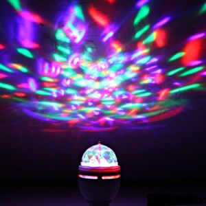E27 Rotating LED Strobe Party Bulb Multi Changing Color Crystal Stage Disco Light pictures & photos