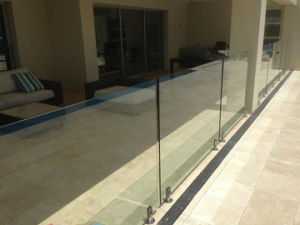 Aluminum Frameless Glass Railing Design with Base Channel pictures & photos