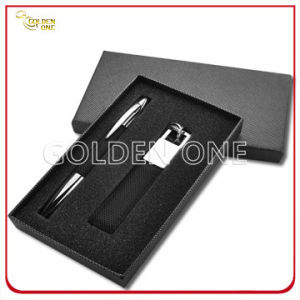 High Quality Metal Click Pen and Keyring Gift Set pictures & photos