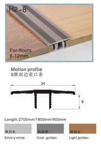 Nail-Hidden Aluminum Profiles for 8-12mm Flooring pictures & photos
