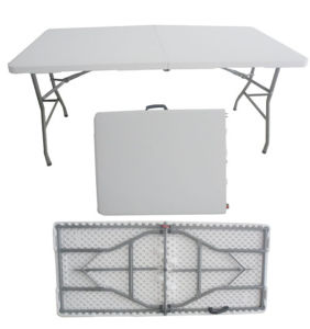 5ft Plastic Folding in Half Table for Outdoor Used