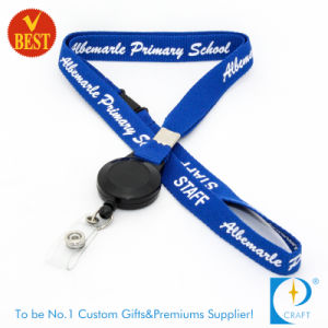 Wholesale Custom Flat Polyester Reel Badge Lanyard pictures & photos