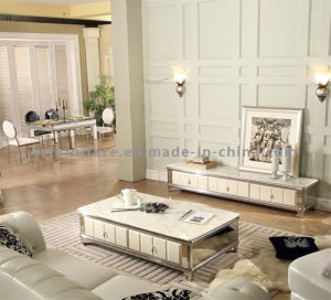 2016 Newest Modern Wooden Frame Glass Coffee Table pictures & photos
