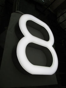 Shop Business Brushed Stainless Steel Fabricated Acrylic Front Illuminated LED Channel Letters pictures & photos