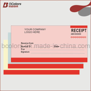 Custom Carbonless Receipts Books Printing