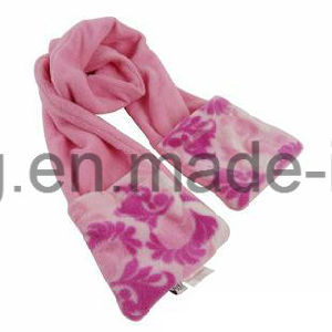 Hot Selling Lady Warm Knitting Polar Fleece Scarf pictures & photos