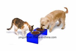 Fashion Clear Dog Feeder, Acrylic Pet Feeder pictures & photos