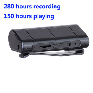 280 Hours Recording Outdoor Professional Dictaphone Voice Recorder with Magnetic Suck Clip pictures & photos