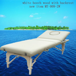 White Beech Portable Massage Table with Adjustable Backrest Mt-009-2W pictures & photos