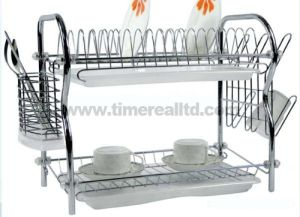 2 Layers Metal Wire Kitchen Dish Rack No. Dr16-Rb pictures & photos