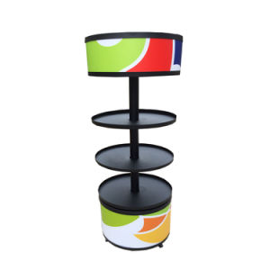 Metallic Rotating Floor Stand with PVC Graphic pictures & photos