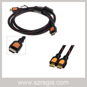 Two Magnetic Ring Male to Male Coaxial Adapter HDMI Cable pictures & photos