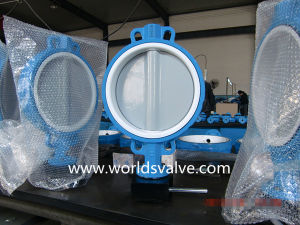 Wafer Type Butterfly Valve with Nylon11 Disc pictures & photos