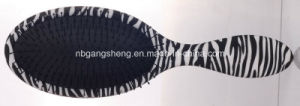 Oval Hair Brush with Zebra Print Effect pictures & photos