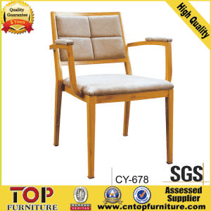 New Design Wood Grain Restaurant Chair with Arm pictures & photos