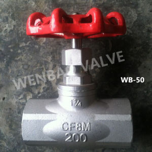 "DIN 1/2"" CF8 Globe Valve 200lb with Handwheel pictures & photos"