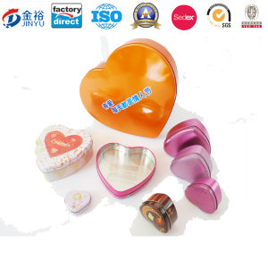 Custom Printed Metal Heart Shape Tin Box pictures & photos