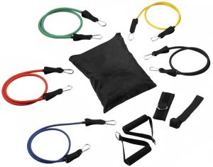 11PCS Fitness Latex Resistance Bands Exercise Set pictures & photos