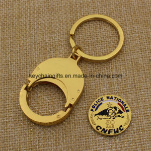 Promotion Custom Metal Euro Coin Holder Key Chain pictures & photos