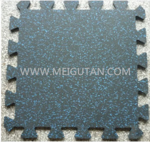 Interlocking Black with EPDM Fleck Gym Rubber Mat Rubber Flooring
