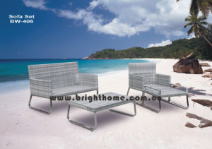 High Quality PE Rattan Wicker Sofa Set Bw-406 pictures & photos