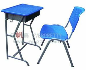 Adjustable Height Kids Study Desk and Chair for Preschool Classroom Furniture pictures & photos