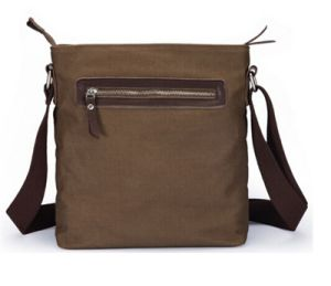 Leisure Men′s Canvas Shoulder Bags with Real Leather (CSD0019) pictures & photos