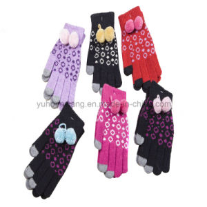Customized Knitted Acrylic Half Finger Magic Gloves/Mittens pictures & photos