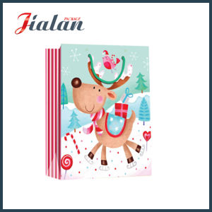 Glossy Laminated Art Paper Cartoon Christmas Shopping Gift Paper Bag pictures & photos