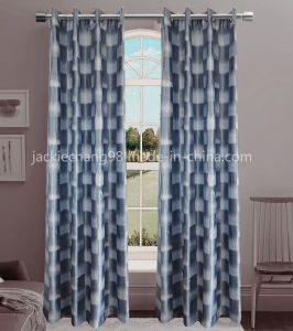 Jacquard Grommet Panel Window Curtain (HR14WT184) pictures & photos