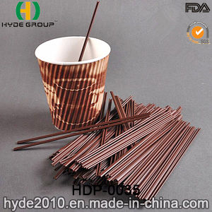 PP Plastic Stiring Stick Drinking Straw for Coffee (HDP-0035) pictures & photos