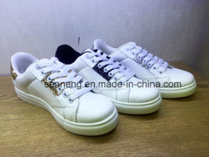 2016 Hot Sell White Shoes with PVC Injection Outsole pictures & photos