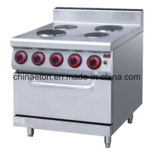 4-Plate Electric Cooker with Electric Oven (Round) pictures & photos