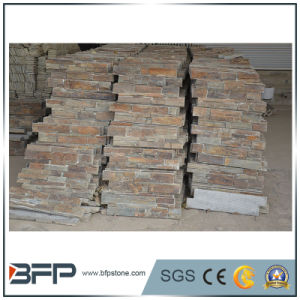 Yellow Rusty Slate Ledgestone for Wall Panel Tiles, Facade Decorating pictures & photos