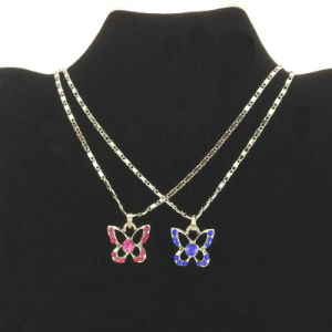 Colorful Stone Tiny Butterfly Pendant Necklace for Kids Jewellery (FN16040722) pictures & photos