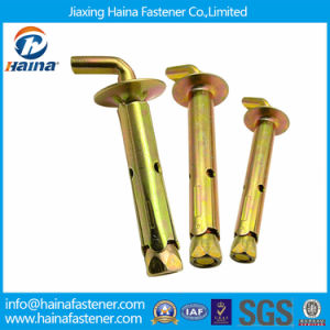 China Supplier Color Plated L Type Sleeve Anchor with L Bolt Expansion Anchor pictures & photos