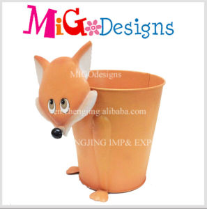 Superior Quality OEM Cute Owl Garden Flower Metal Planter pictures & photos