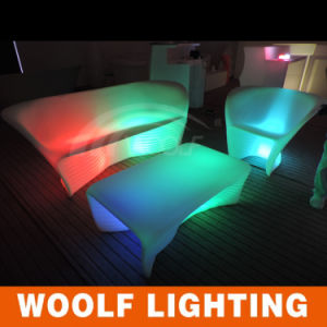 Night Club Sofa, Glowing LED Sofa, LED Two Sofa pictures & photos