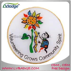 Customized Printing Lapel Pin Badge with Epoxy Dome pictures & photos