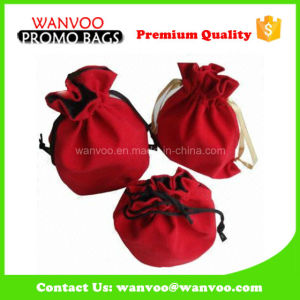 Hanging Display Small Velvet Drawstring Jewelry Gift Pouch Bag pictures & photos