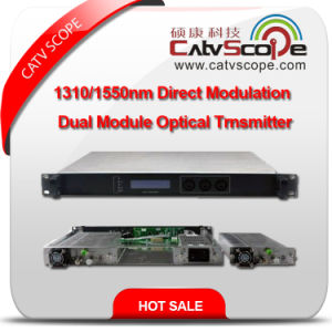High Performance CATV Dual Module 1310/1550nm Directly Modulated Optical Laser Transmitter