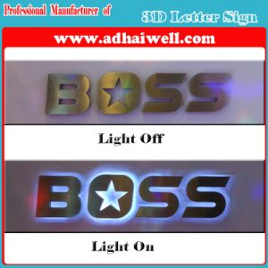 Office Wall-Mounted 3D LED Lighting Letter Sign pictures & photos