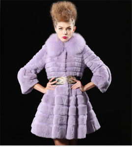 Haining Fur The New Fox Clothing Imports Elaborate Waistcoat Fur Coat in Ms Fur One Dress pictures & photos