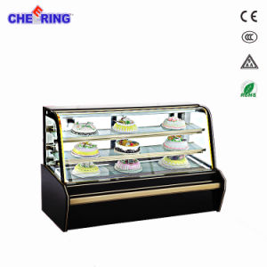 Good Quality Luxury Commercial Cake Display Showcase with Double Curve pictures & photos