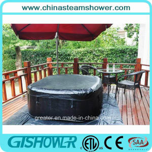 Foldable Square Air Bubble SPA Tub (pH050013) pictures & photos