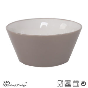 13.6cm Ceramic Bowl Outside Grey Inside White pictures & photos