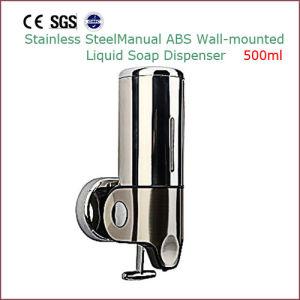 Manual ABS Stainless Steel Wall Mounted Liquid Soap Dispenser 500ml pictures & photos