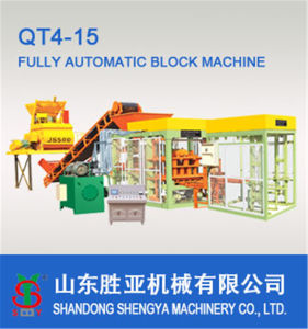 Qt4-15 Fully Automatic Hydraulic Block Machine pictures & photos